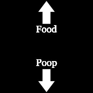 Food Poop. Lustiges Motiv für Babys