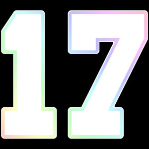 Nummer 17 Regenbogen