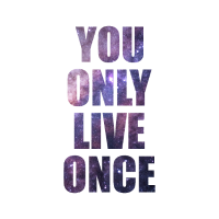 You only live once quote poster wandbild design