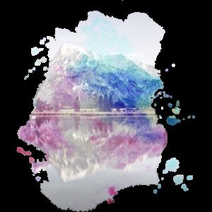 Fantasy Spiegel See Berge Farben Bunt Geschenk