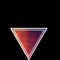 low poly dreieck rot blau
