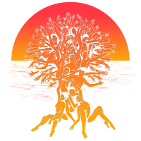 Tree of life Summer Sunset Spiritual Yoga Shirt