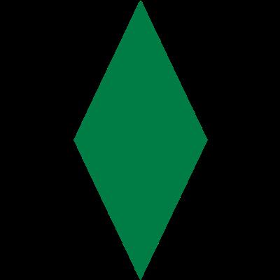 Schmale Raute - Eine relativ schmale Raute, deren Farbe nach Belieben verändert werden kann. - werder,schaaf,Raute,Naldo,Bremen,Allofs
