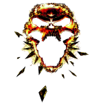 Skull in Red/Yellow