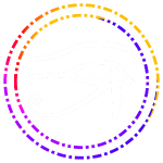 Colored Eye of Horus in White