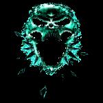 Skull in Cyan