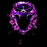 Skull in Purple/Pink