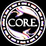 Colored CORE. logo #2 in White