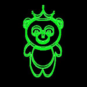 grüner Panda