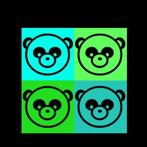 4 pandas 4 freunde