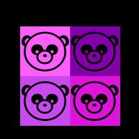 panda shirt in pandaköpfe