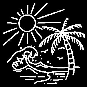 Strand Meer Sonne Palmen