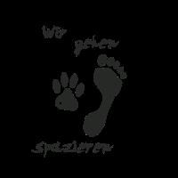 """""""Wir gehen spazieren"""" T-shirt für Hunde-Liebhaber"""