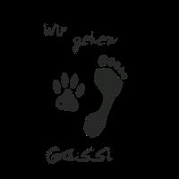"""""""Wir gehen Gassi"""" T-Shirt für Hunde-Liebhaber Fans"""