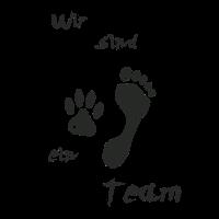 """""""Wir sind ein Team"""" T-Shirt für Hunde-Liebhaber"""