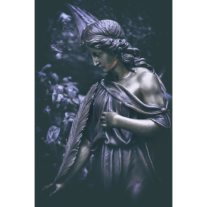 Grabengel Bronze Figur Friedhof Engel Trauer