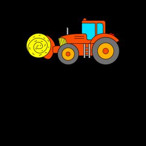 Traktor mit Strohballen - Bauernhof Fahrzeug