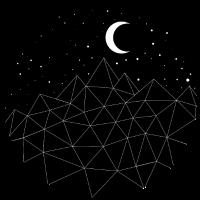Sterne Mond Berge Geschenkidee