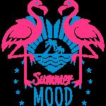 2 Flamingos Summer Mood Love Heart Palm Beach 10