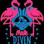 Flamingos Malle Diven Summer Mood Love Heart 11