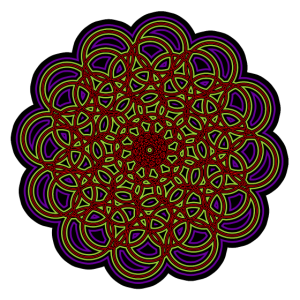 Goa - Mandala - Geometrie - Psy - Geschenk