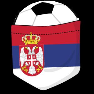 Fußball Serbien in der Brusttasche