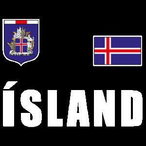 Island Fussball T-Shirt Trikot Fanshirt Fans