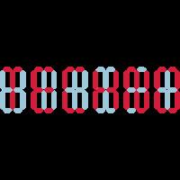 Techno Digital Anzeige dgtl Display Pixel Minimal