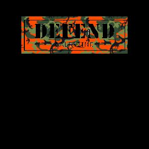 """DEFEND PALESTINE"" Camouflage T-Shirt"