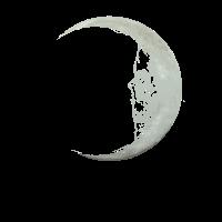 Mond Halbmond Schädel Geschenk