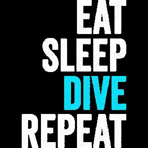 EAT SLEEP DIVE REPEAT Geschenk Tauchen Scuba Shirt