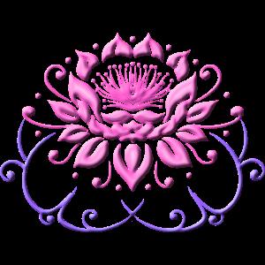 Lotusblume, Lotus mit Blättern. Yoga.