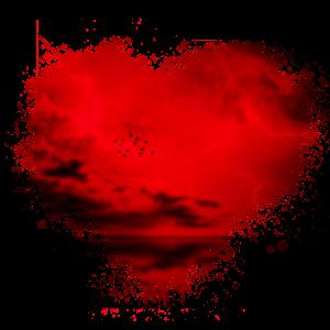 Herzsturm Splatter Fleck Splash Spritzer Herz