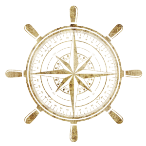 Kompass in Gold
