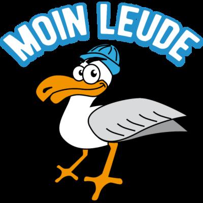 Möwe Moin Leude Nordsee Hamburg Norddeutsch - Möwe Moin. Die lustige Möwe grüßt auf norddeutsch natürlich mit moin. - nordsee,beachparty,küste,Hamburg,westerland,sylt,ostsee,Nordsee,moin,hafen,Möwe