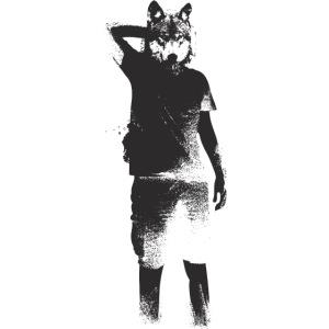 illustration loup noir