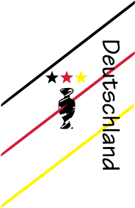 Fan-Shirt: Deutschland - deine EM Sterne