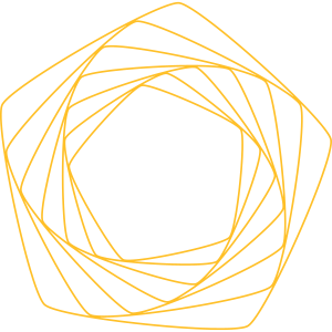 goldenes Muster Fünfeck