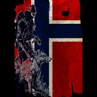 Wikinger Wolf Norwegen