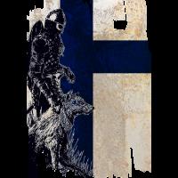 Wikinger und Wolf Finnland