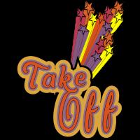Take Off - Feuerwerk in Sternchen farbenfroh bunt