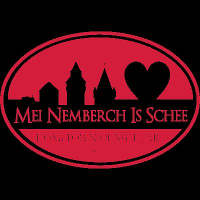 Mei Nemberch Is Schee (groß) - Die Liebe zu Nürnberg als sichtbares Zeichen auf der Haut tragen. Ein Bekenntnis zur Heimatstadt des Herzens, ein Loblied des Herzens auf diese Stadt, ein Ausdruck von Lebensfreude und Lebensgenuss. - Nürnberger Herold,Nürnberg-Hymne,Nürnberg,Nemberch,Heimat,Franken,Burg