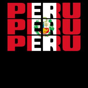 PERU in LÄNDERFARBEN FLAGGE FAHNE