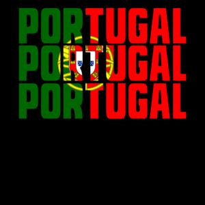 PORTUGAL in LÄNDERFARBEN FLAGGE FAHNE