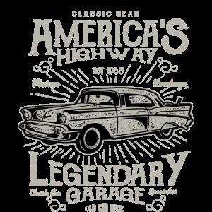 Oldtimer Klassiker Auto Vintage America Highway