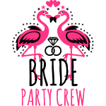 Bride Braut Party Crew Flamingos wedding rings 103
