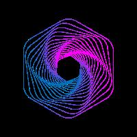 Geometric Line Art Polygon