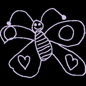 Schmetterling Bluemchen