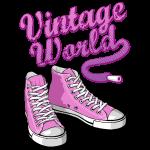 Zapatillas de color rosa de la vendimia