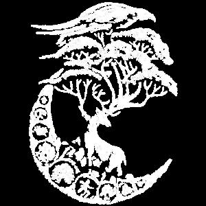 mythische Hirsche